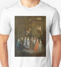 The Wedding of Stephen Beckingham and Mary Cox by William Hogarth Unisex T-Shirt