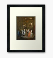 The Wedding of Stephen Beckingham and Mary Cox by William Hogarth Framed Print