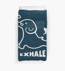 Yoga Elephant Exhale Shirt Duvet Cover