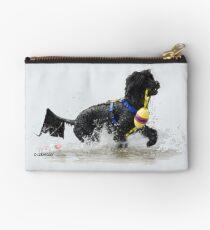 Bolso de mano Perro de agua portugués recuperando una línea de flotación amarilla