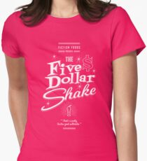 Pulp Fiction - Five Dollar Shake Retro Variant Womens Fitted T-Shirt