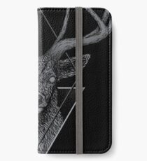 Dunkler Hirsch iPhone Flip-Case/Hülle/Skin