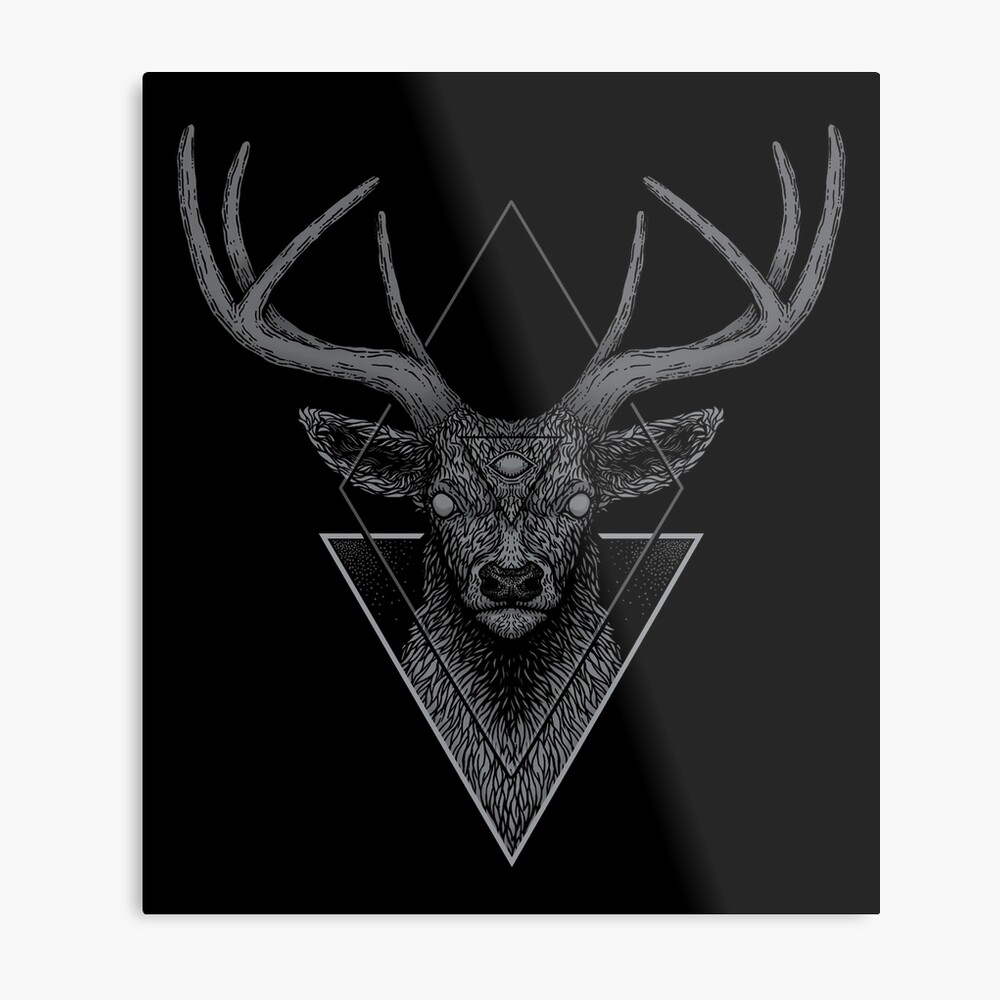 Dark Deer Metal Print