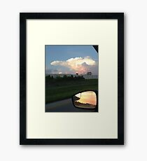 Forward and Rear view of the sky Framed Print