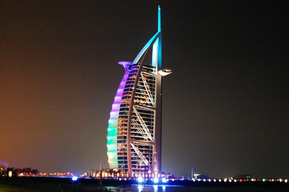 Burj Al Arab at Night by Rey Mendoza