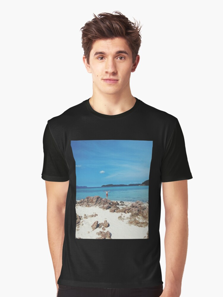 BEACH. Graphic T-Shirt Front