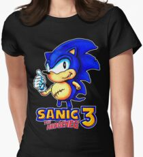 Sanic the Hodgeheg 3: Triple Amputee  Womens Fitted T-Shirt