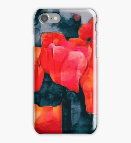 Tulip Field at Night iPhone Case/Skin