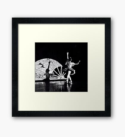 Shadow Dancing (B&W) Framed Print
