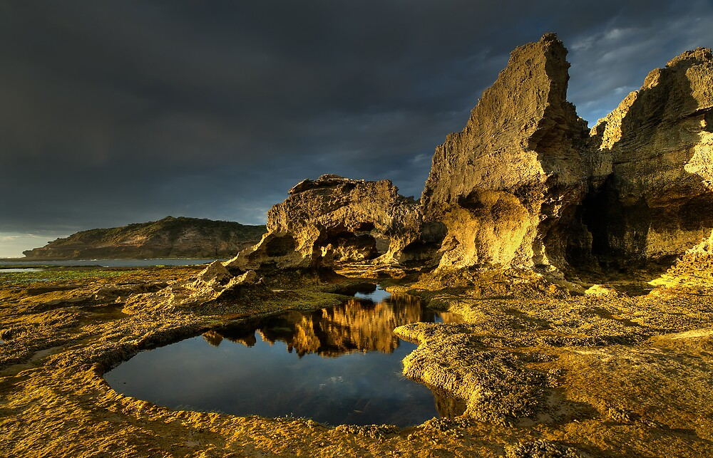 Golden Arch Rock Afternoon by Robert Mullner