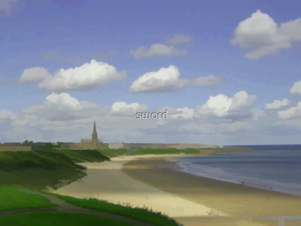 Tynemouth Longsands England  by sword