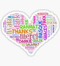 thank you in different languages Sticker