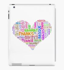 thank you in different languages iPad Case/Skin