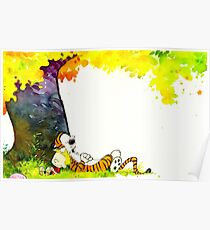 Calvin and Hobbes Summer Days Poster