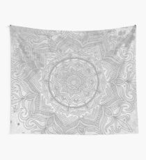 Grey splash mandala swirl pattern tribal modern boho art Wall Tapestry