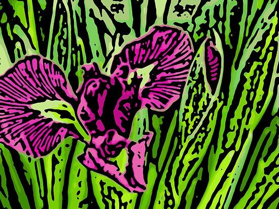 Garden Dragon - Woodcut by absolutemagik