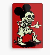 Skull mouse Metal Print