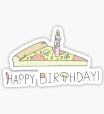 Pizza - Happy birthday Sticker