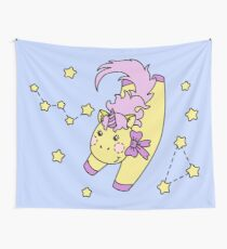 Little Unicorn and Cassiopeia Wall Tapestry