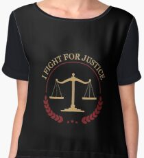I Fight For Justice - Awesome Lawyer Attorney Gift Women's Chiffon Top