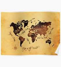 world map 75 Poster