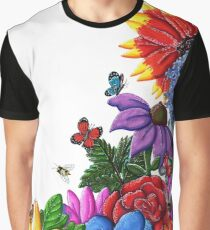 Floral in the Corner Graphic T-Shirt