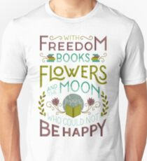 Flowers and the Moon Unisex T-Shirt