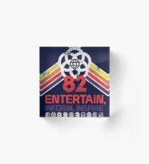 EPCOT Shirt - Distressed Logo - Entertain informieren Inspire Acrylblock