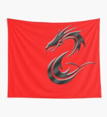 Metal Dragon Wall Tapestry