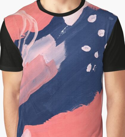 Pink Abstraction Graphic T-Shirt