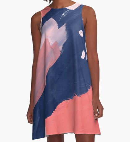 Pink Abstraction A-Line Dress