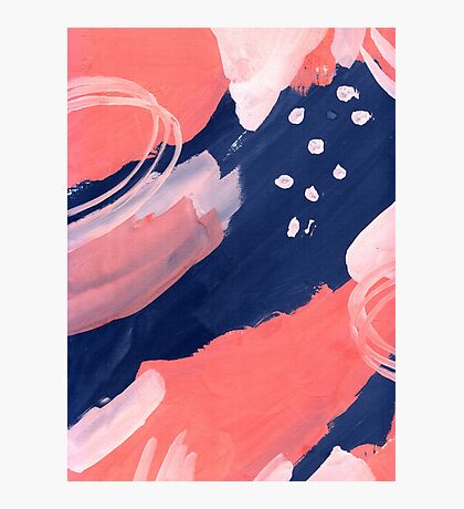 Pink Abstraction Photographic Print