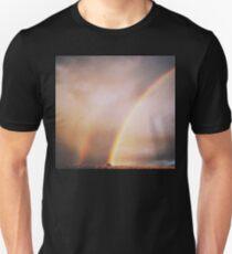 Double Rainbow!  Unisex T-Shirt