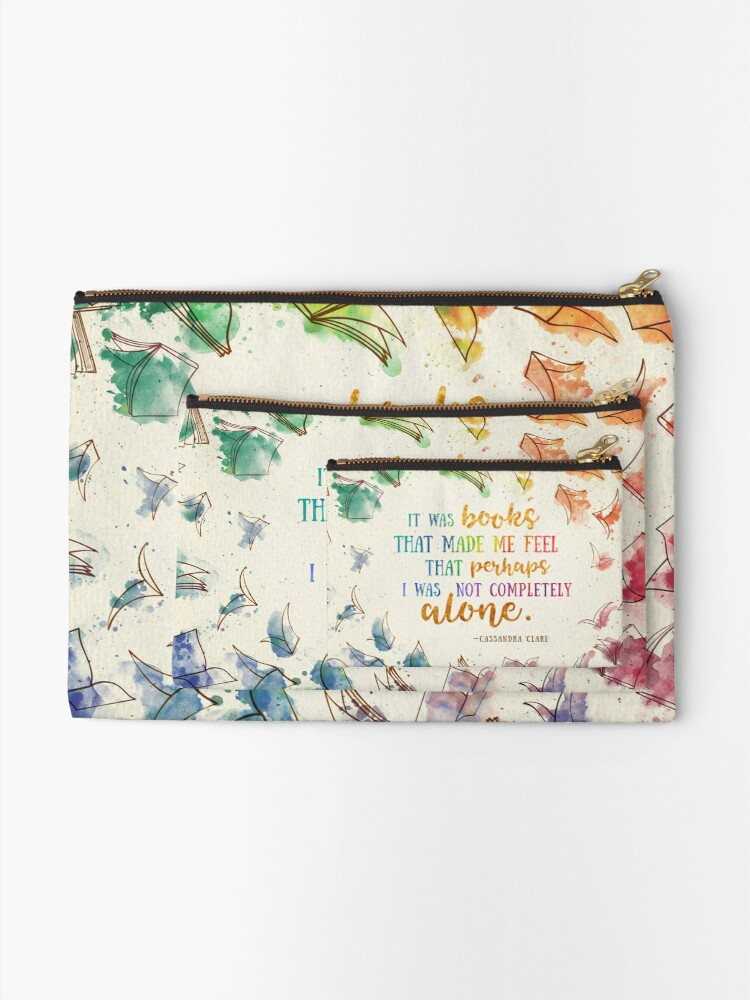 Alternate view of It was books Zipper Pouch