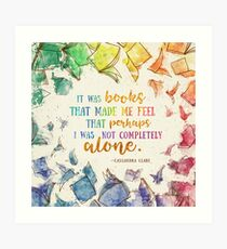 It was books Art Print