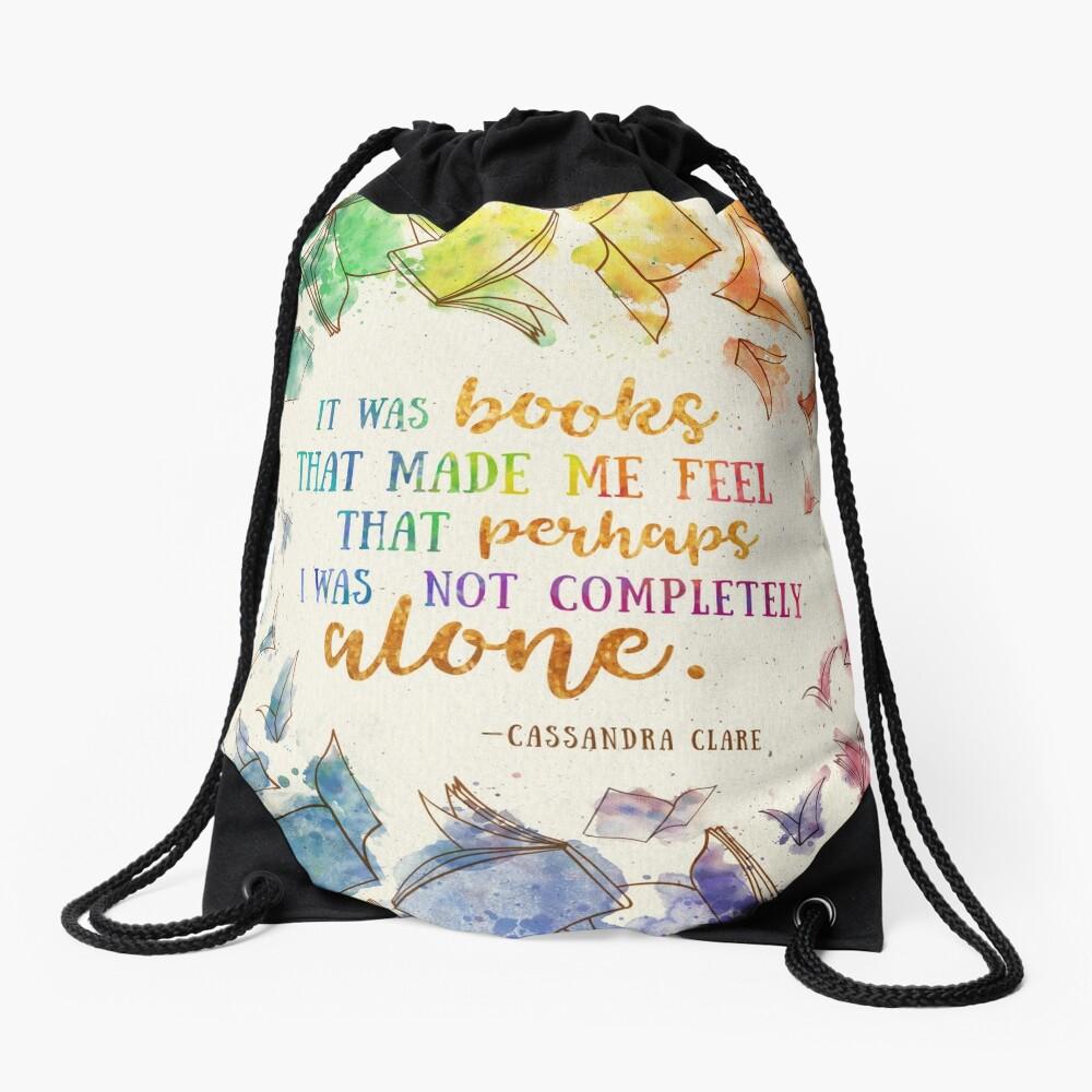 It was books Drawstring Bag