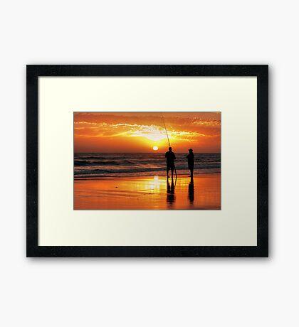 Two Mates Fishing Framed Print