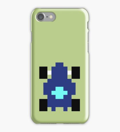 Pixel Car [blue] iPhone Case/Skin