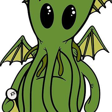 Cthulhu - Cute Mythos by lurchkimded