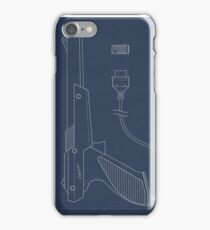 Blueprint of a Zapper light gun iPhone Case/Skin