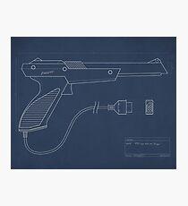 Blueprint of a Zapper light gun Photographic Print