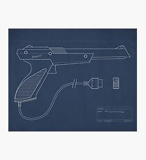 Blueprint of a Zapper light gun Photographic Print