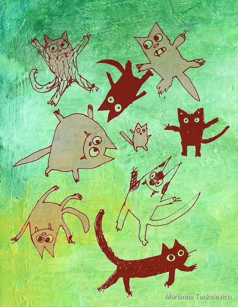 levitating kitties by Marianna Tankelevich