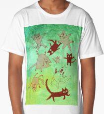 levitating kitties Long T-Shirt