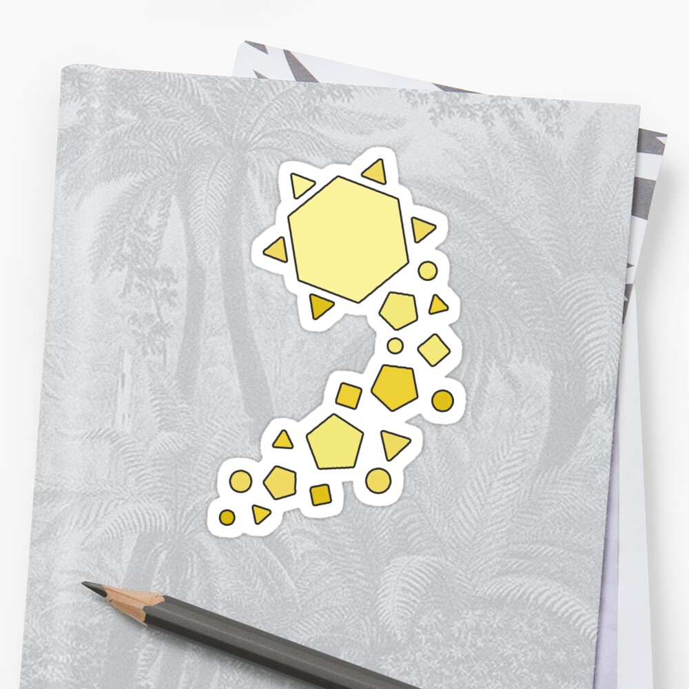 Polygons - Yellow by peppermintfloss