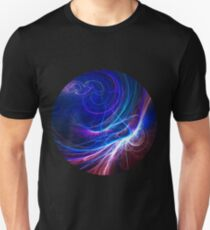 Pink and blue fractal Unisex T-Shirt