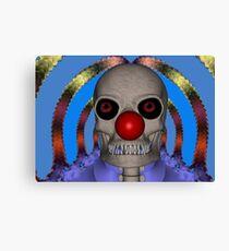 Skeleton Clown Canvas Print