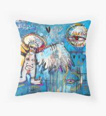 Basquiat's Angel as a Woman Throw Pillow