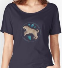 Smilodon fatalis with chrysocolla Women's Relaxed Fit T-Shirt