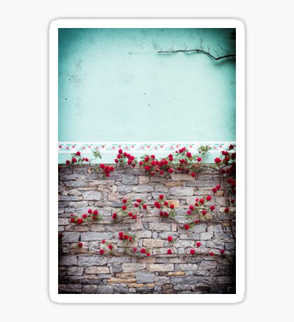 Roses on a wall Sticker